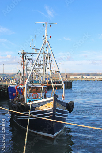 Photo  Fishing boats in Stranraer harbour
