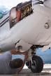 Engineer servicing landing gear