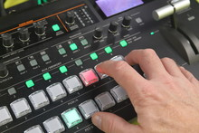 Hand Operating Video Production Switcher, A/v Buttons