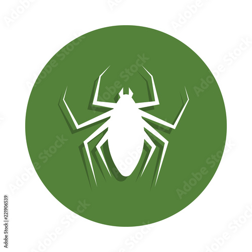 Foto  flea icon in badge style