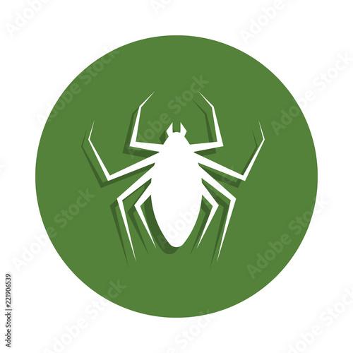 Fotografie, Tablou  flea icon in badge style