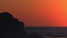 Royalty Free Stock Video Footage Panorama Of Sunset At Dor Beach Shot In Israel