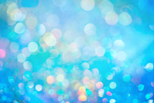 Bokeh Glitter Colorfull Blurred Abstract Background For Birthday, Anniversary, Wedding, New Year Eve Or Christmas