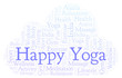 Happy Yoga word cloud.