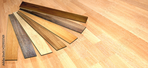 Obraz New planks of oak parquet - fototapety do salonu