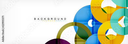 Fototapeta  Geomtric modern backgrounds, rings abstract template