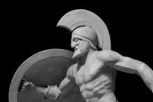 Roman Statue Of Warrior In Hel...