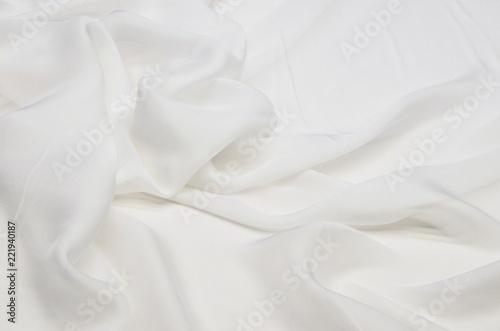 Fototapeta Silk fabric, white chiffon
