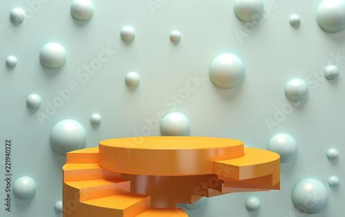 Scene with geometrical form...