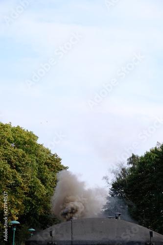 Fotografie, Obraz  smoke with sky