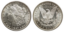 USA 1 Dollar Morgan-Dollar Silber 1887