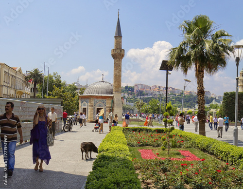 Izmir, Turkey, Mosque Of Yala. Yala mosque was built in the heart of the resort town of Izmir, on the Central square of Konak, in 1754.