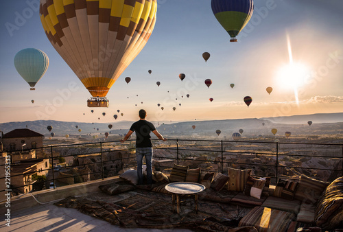 Keuken foto achterwand Ballon Cappadocia