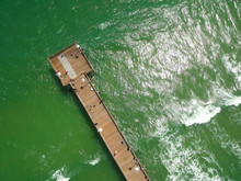 Aerial View Of The Historic Daytona Beach Main Street Pier, At Daytona Beach, Florida, USA