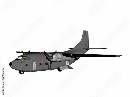 Fotografie, Obraz  Militärtransporter am Himmel