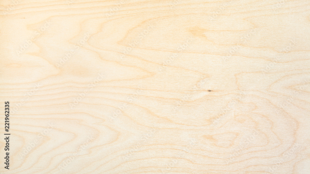 panoramic background from natural birch board