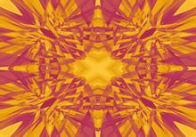 Red And Yellow Kaleidoscope Pa...