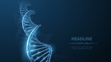 DNA. Abstract 3d Polygonal Wir...