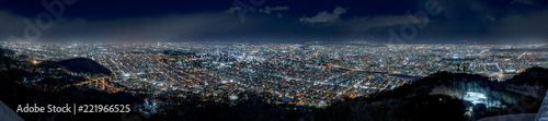 Obraz na plátně  札幌市の夜景 / 藻岩山山頂からの風景