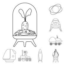Vector Illustration Of Mars An...