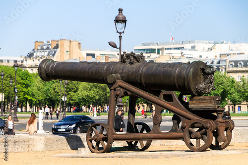 Fotografie, Obraz  Prussian Cannon founded by Johann Jacobi in 1700 at Les Invalides in Paris, Fran