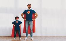 Father And Son In Superhero Su...
