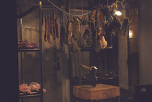 Meat Products In A Dimly Lit D...