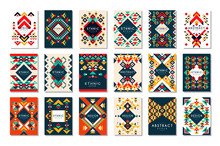 Colorful Vector Set Of 9 Card ...