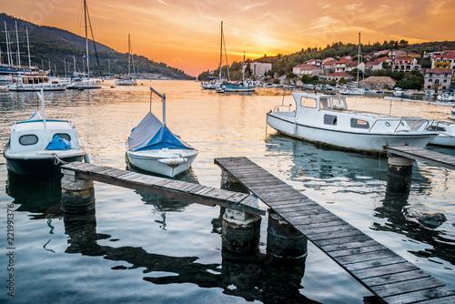 Vela Luka, Korcula island, Croatia Tablou Canvas