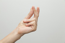 Male Hand Showing ''snap'' Ges...