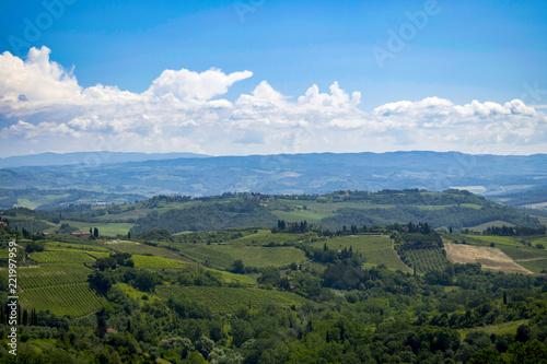 Spoed Foto op Canvas Khaki Tuscany Landscape