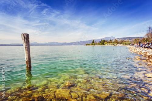 Fotografie, Obraz Lake Garda coast in Bardolino