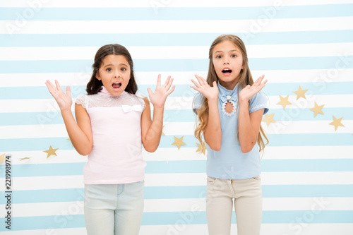 The Surprising News About Childrens >> Thrilled Moment From Childhood Kids Schoolgirls Preteens Shocked