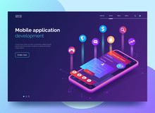 Mobile App Development Vector ...