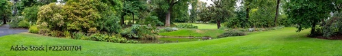 Panoramic view of garden of plants in Nantes France