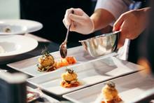 Chef Preparing Food, Meal, In ...