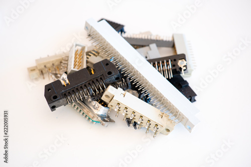 Valokuva  Electronics connectors