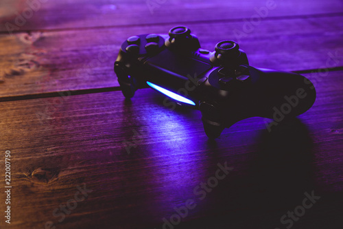 Video game controller night with lights Fototapet