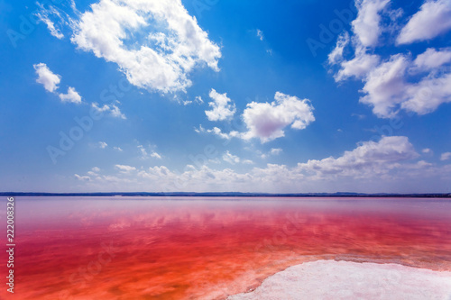 The salty shore of the Laguna Salada de Torrevieja.Spain.