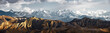 Leinwanddruck Bild - Panoramic view of snow mountains range landscape