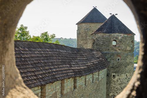 Foto  View from window of Kamianets-Podilskyi Fortress, Ukraine