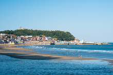 Scarborough In North Yorkshire UK, A Popular Holiday Destination.