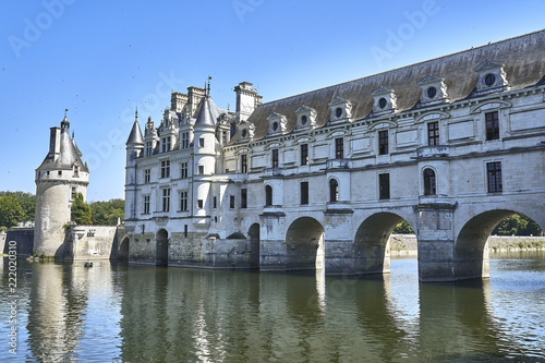 Fotografia  Chenonceau castle in France. Europe