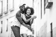 African-American Couple Dancing At Street