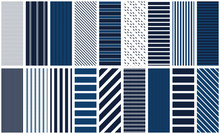 Navy Stripe Seamless Pattern S...