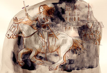Joan Of Arc - An Hand Painted Illustration