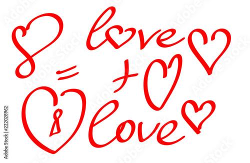 Fotografia  Набор Любовь и Сердца