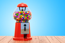 Gumball Machine On The Wooden ...