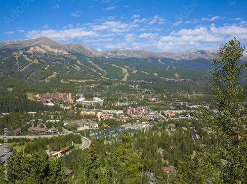 Breckenridge, Summit County, Colorado in the summer
