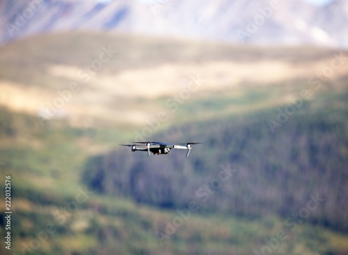Fotografie, Obraz  Flying drone in Rocky Mountains, Colorado